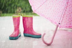 雨の日とレインブーツ